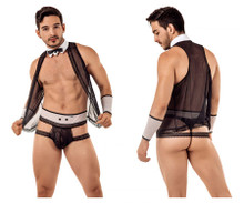 99426 CandyMan Men's Sexy Butler Outfit Color Black