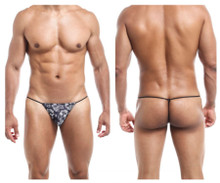 JS02 Joe Snyder Men's G-String Color Black Skulls