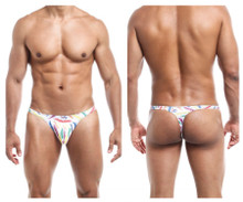 JS03 Joe Snyder Men's Thong Color White Feathers