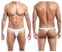 JS03 Joe Snyder Men's Thong Color White Viva Mexico