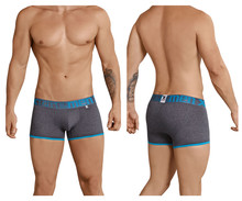 91027 Xtremen Men's Butt lifter Boxer Briefs Color Dark Gray