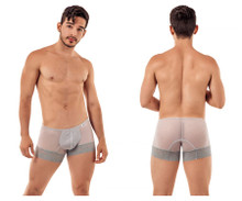 99407 CandyMan Men's Lace Trunks Color Gray
