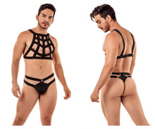 99419 CandyMan Men's Cage Harness Thong Color Black