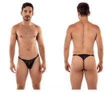 99421 CandyMan Men's Lace G-String Thong Color Black