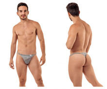 99421 CandyMan Men's Lace G-String Thong Color Gray