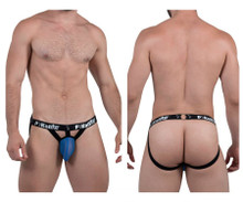 9296 Pikante Men's Light Mesh Jockstrap Color Blue