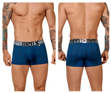 51451C Xtremen Men's Geometric Jacquard Trunk Color Blue