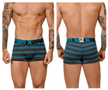 51453C Xtremen Men's Stripes Trunk Color Turquoise