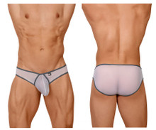 91058 Xtremen Men's Big Pouch Mesh Briefs Color White