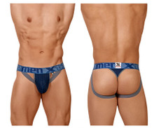 91060 Xtremen Men's Athletic Jockstrap Thong Color Dark Blue