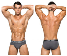 PBUZ3748 Private Structure Men's Platinum Bamboo Contour Briefs Color Hermit Grey
