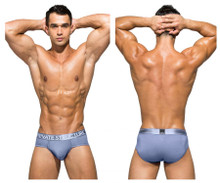 PBUZ3748 Private Structure Men's Platinum Bamboo Contour Briefs Color Air Force Blue