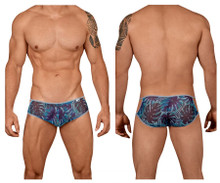 99439 CandyMan Men's Floral Briefs Color Blue