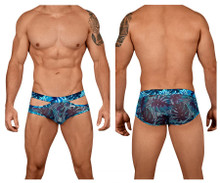 99441 CandyMan Men's Floral Briefs Color Blue