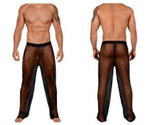 99445 CandyMan Lace Lounge Pants Color Black