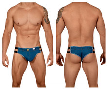 99452 CandyMan Men's American Jeans Thong Color Denim