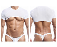 JS32 Joe Snyder Men's Crop Top Color White Mesh
