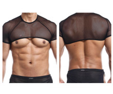 JS32 Joe Snyder Men's Crop Top Color Black Mesh