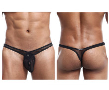 JSIFT02 Joe Snyder Men's Infinity Thong Color Black Mesh