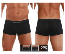 626182-962 Papi Men's Cool 2PK Brazilian Trunks Color Black-Gray
