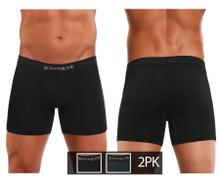626185-962 Papi Men's Cool 2PK Boxer Briefs Color Black-Gray