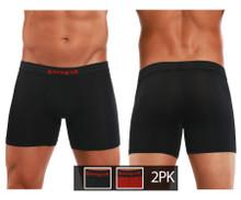 626185-982 Papi Men's Cool 2PK Boxer Briefs Color Black-Red