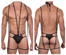 99470 CandyMan Men's Bodysuit Thong Color Black