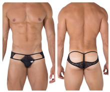 99471 CandyMan Men's Lace Jock Thong Color Black