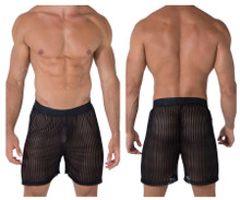 99497 CandyMan Mesh Lounge Boxer Shorts Color Black