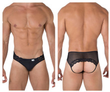 99490 CandyMan Men's Lace-Mesh Jockstrap Color Black