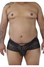 99393X CandyMan Men's Lace Boxer Briefs Color Black