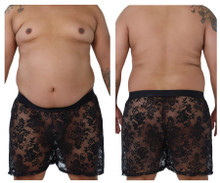99464X CandyMan Lace Boxer Shorts Color Black