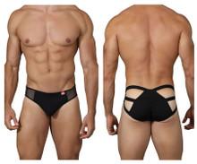 0218 Pikante Men's Attraction Ruched Briefs Color Black