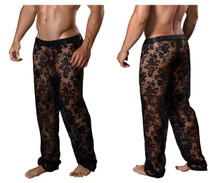 99234 CandyMan Lace Lounge Pants Color Black