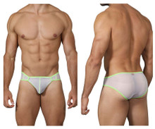 0222 Pikante Men's Communication Mesh Briefs Color White