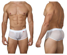 0226 Pikante Men's Cheek Lifter Trunks Color White