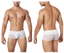 0262 Clever Men's Control Latin Trunks Color White