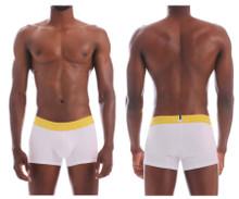 20160100104 Unico Men's Joyful Trunks Color White