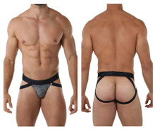 91068 Xtremen Men's Microfiber Jockstrap Color Black