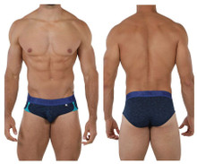 91071 Xtremen Men's Microfiber Sports Brief Color Dark Blue