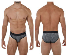 91071 Xtremen Men's Microfiber Sports Brief Color Black
