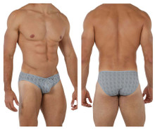 91075 Xtremen Men's Microfiber Jacquard Briefs Color Gray