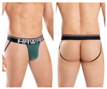 41946 Hawai Men's Solid Athletic Jockstrap Color Green