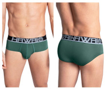 41963 Hawai Men's Solid Hip Briefs Color Green