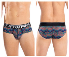 42050 Hawai Men's Colorful Hip Briefs Color Blue