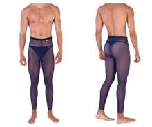 0336 Pikante Men's Manhood Long Johns Thong Color Dark Blue