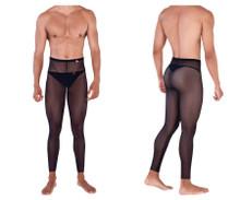 0336 Pikante Men's Manhood Long Johns Thong Color Black