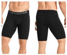 41903 Hawai Men's Solid Athletic Boxer Briefs Color Black