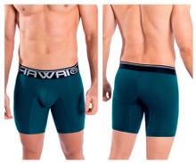 41903 Hawai Men's Solid Athletic Boxer Briefs Color Petrol
