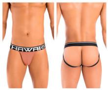 41946 Hawai Men's Solid Athletic Jockstrap Color Caramel